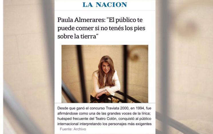 """Paula Almerares: """"El público te puede comer si no tenés los pies sobre la tierra"""""""